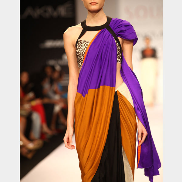 Color Block Saree