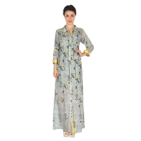 Long Shirt Dress In Cotton Silk by Soup by Sougat Paul