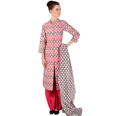 Pink Chanderi Kurta Set by SOUP by Sougat Paul