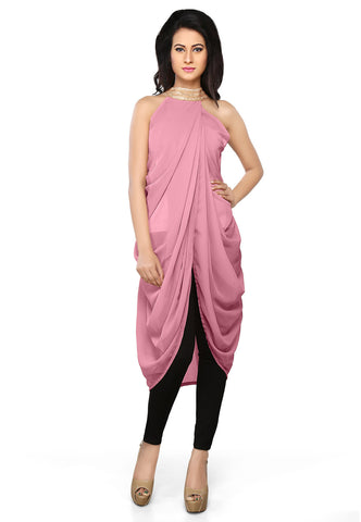 Faux Georgette Tunic in Pink by Tadpole Store