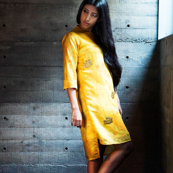 Canary Shift Dress In Yellow by The Right Cut
