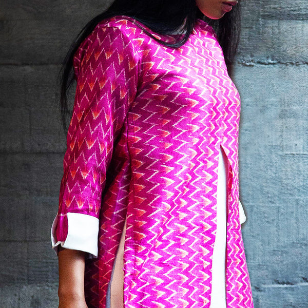 Mazenta Maze Dress In Fuchsia