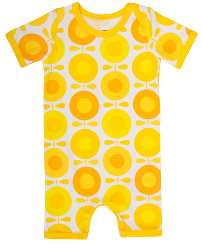 Katvig - Summer Suit Shortsleeve Big Apples Yellow - Zomer Pak Gele Appels Zonnebloemen