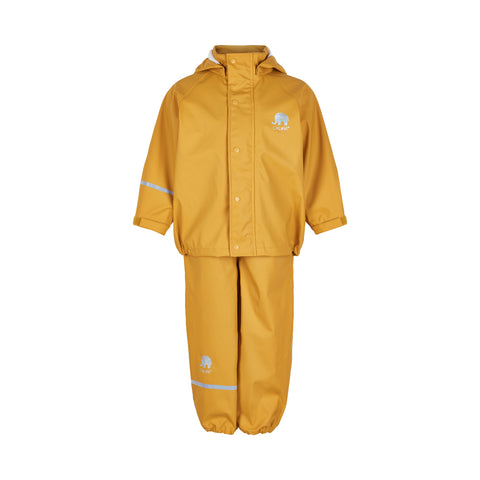 Celavi Basic Rainwear Set Solid Mineral Yellow - Regenpak Effen Geel