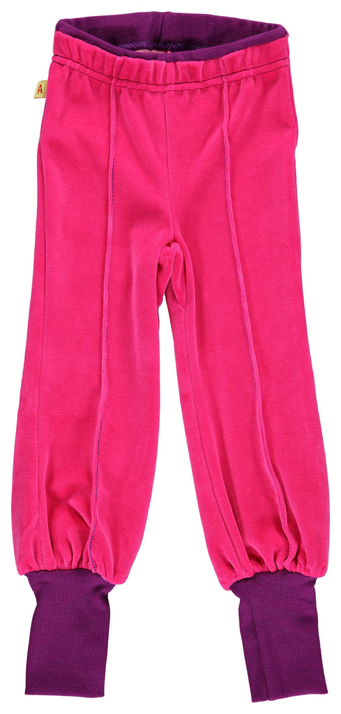 AlbaBaby Pants Tight Bjork Pink - Roze Velours Broek