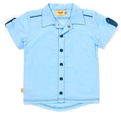 Albababy - Shirt Short Calle Blue