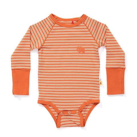 Albababy - Body Daly Orange - Oranje Streep Romper