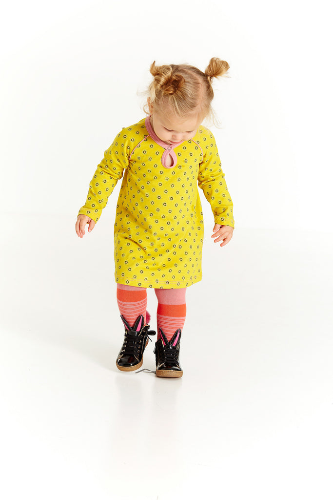 AlbaBabY Hanny Baby Dress - Lemon Curry Flower