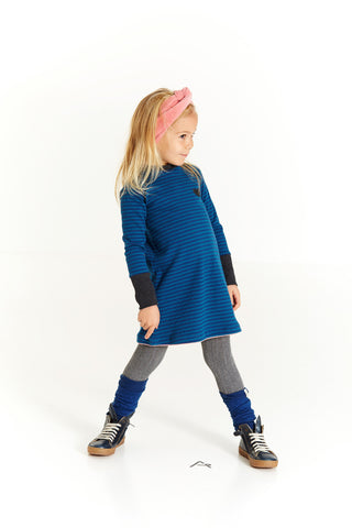 AlbaBabY Helle School Dress - Estate Blue Striped