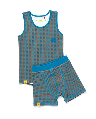 Albababy - Underwear Funo Grey/Blue Stripe