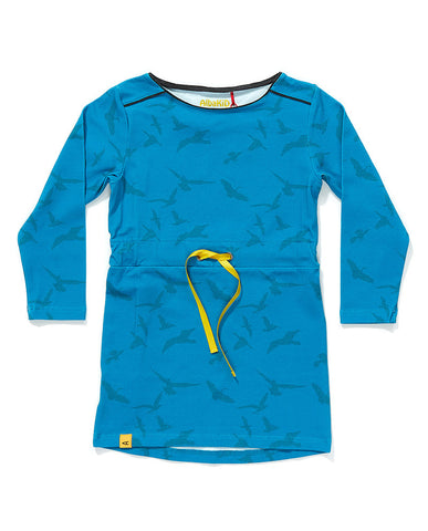 AlbaBaby - Dress Frida Blue Bird