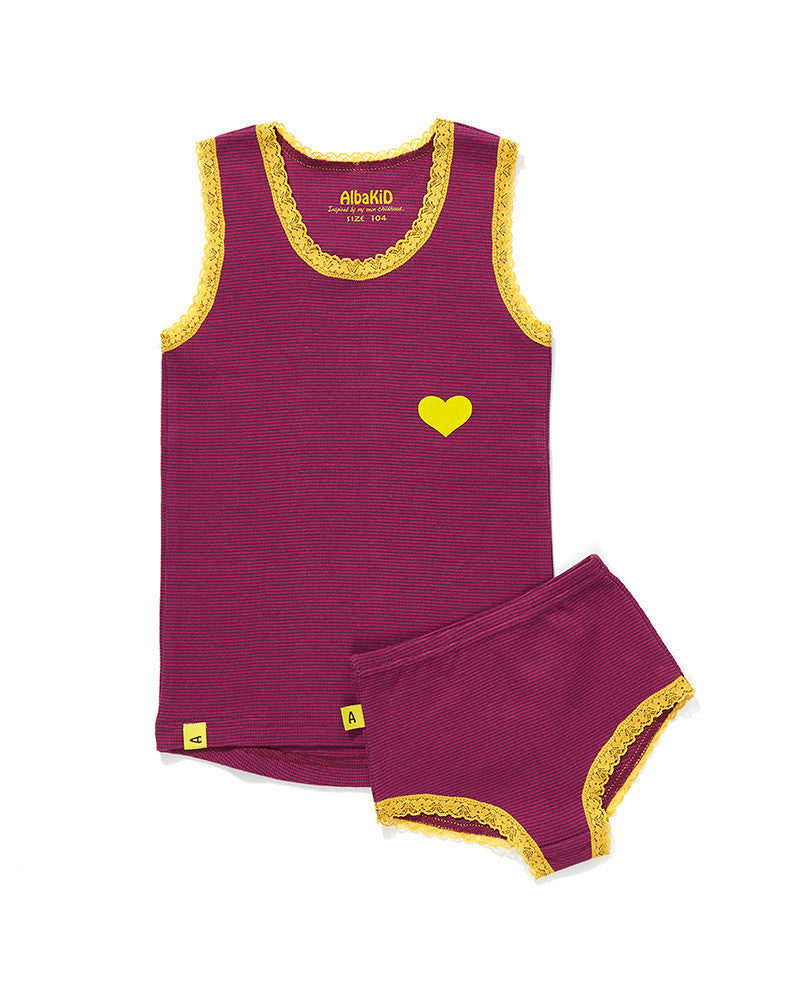 Albababy - Underwear Funo Purple/Rose Stripe