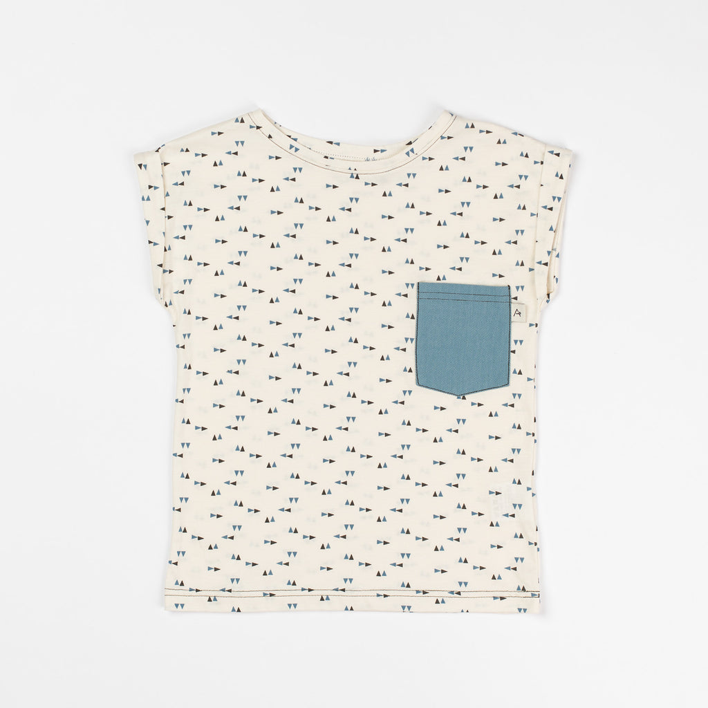 AlbaBaby Mads T-Shirt Antique White Triangle