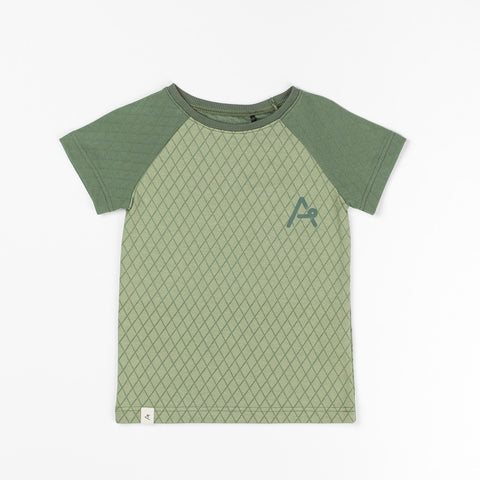 AlbaBaby Miguel T-Shirt Hedge Green Harlequin