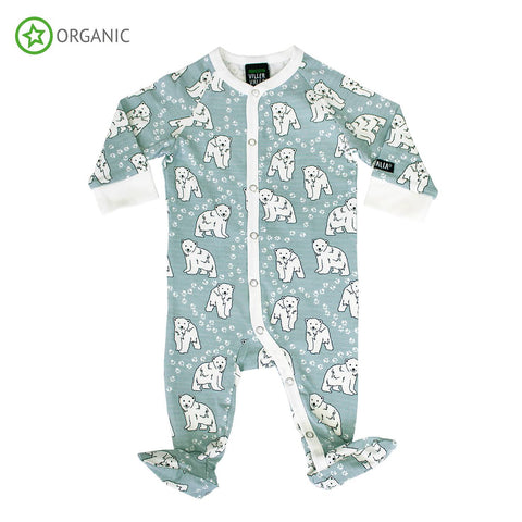 Villervalla - Jumpsuit with Foot Polar Bear Grey