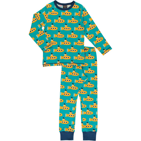 Maxomorra Classic- Pyjama set Yellow Submarine