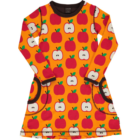 Maxomorra Classic - Dress Longsleeve Apples