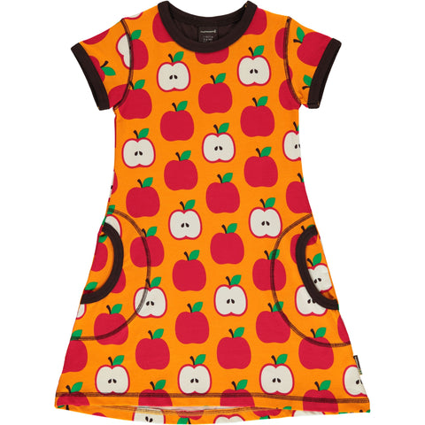 Maxomorra Classic - Dress Short Sleeve Apples - Jurk Korte Mouw Appels