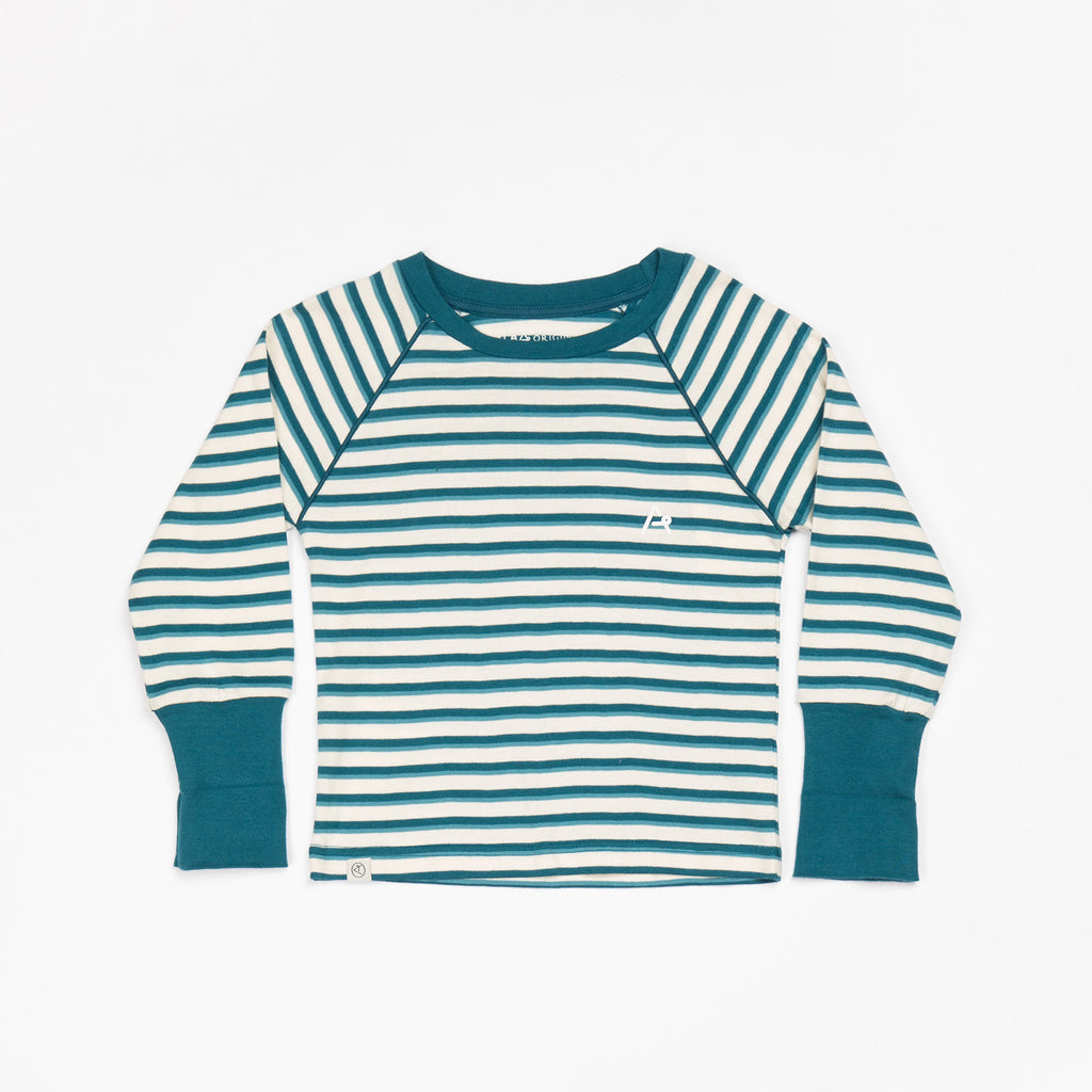 AlbaBaby - Longsleeve Alpha Blouse Blue Coral Striped