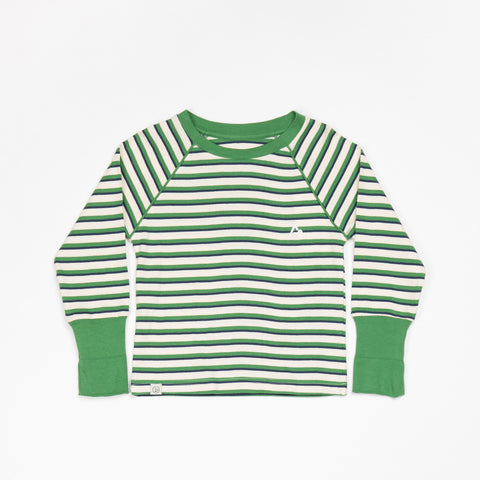 AlbaBaby - Longsleeve Alpha Blouse Juniper Green Striped
