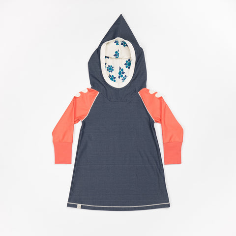 AlbaBaby - Hope Hood Dress Mood Indigo