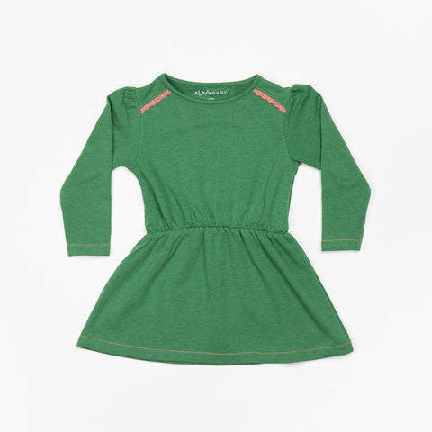 AlbaBaby - Denise Dress Juniper Melange Green