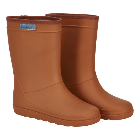 Enfant Rubber Rain Boot Leather Brown - En fant Regenlaarzen Warmbruin