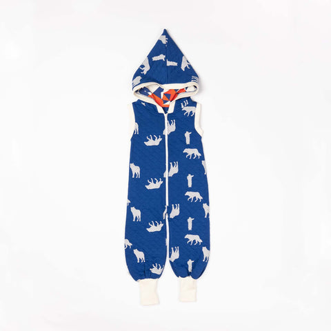 Alba of Denmark - Mio Jumpsuit Solidate Blue Playing Wolves