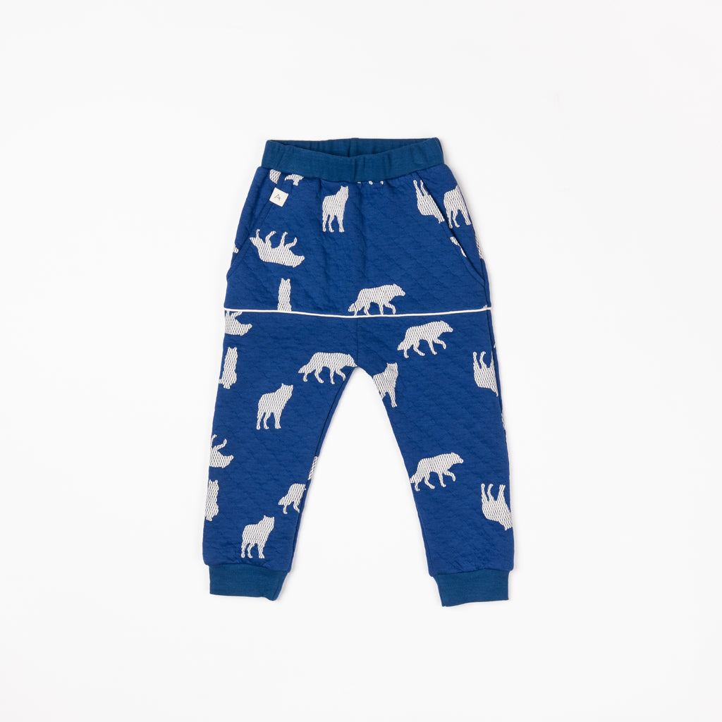 Alba of Denmark - Kristoffer Pants Solidate Blue Playing Wolves