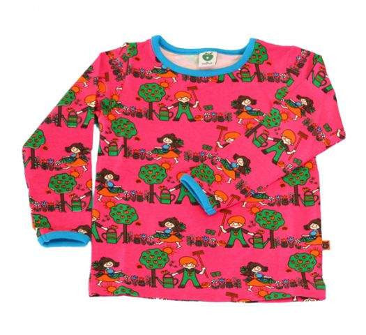 Smafolk - Longsleeve Shirt Trees & Children Pink