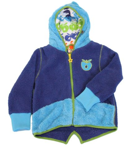 Smafolk - Fleece Hoody Zipper Blue/turquoise - Blauwe fleece met capuchon