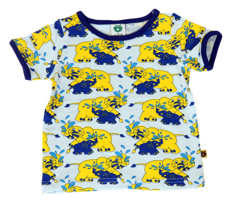 Smafolk T-Shirt BABY Elephant Blue/Yellow