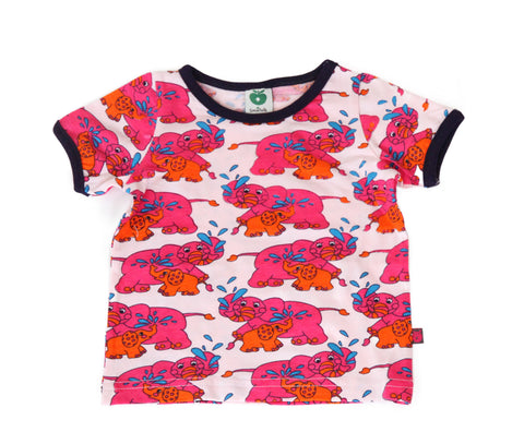 Smafolk T-Shirt BABY Elephant Pink/Orange