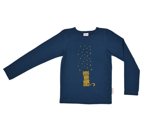 Baba Babywear - Longsleeve Dark Blue Lovely Cat