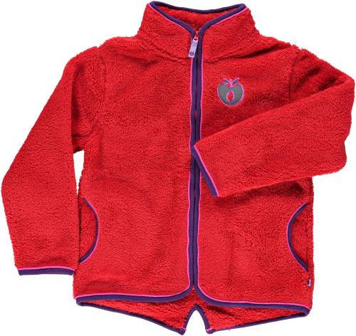 Smafolk - Fleece Zipper Red - Rode fleece