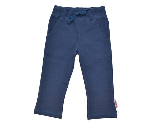 Baba Babywear StraightPants V-Knitted Dark Blue - Rechte Broek