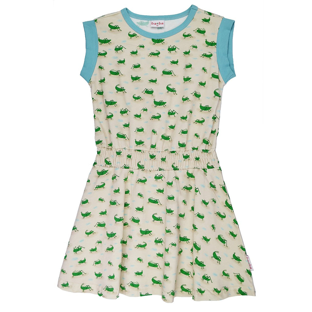 Baba Babywear - Cindy Dress Jersey Grasshopper