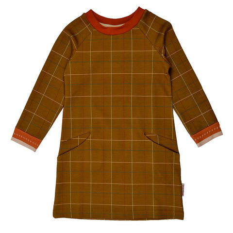Baba Babywear - Pocket Dress Checked Mustard
