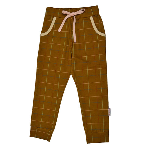 Baba Babywear - Girls Pants Checked Mustard