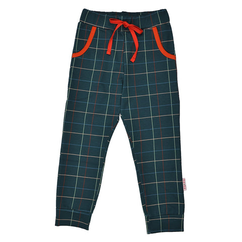 Baba Babywear - Girls Pants Checked Blue