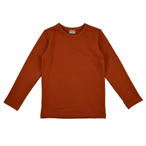 Baba Babywear - Longsleeve Sweat Girls Autmunal Brown Roestbruin