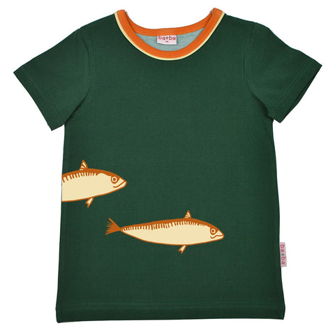 Baba Babywear - T-shirt Fish Evergreen - Vissen