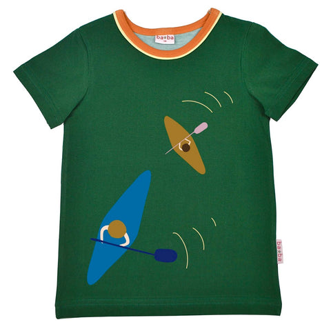 Baba Babywear - T-shirt Kayak Evergreen - Groen