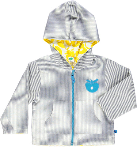 Smafolk - Spring/Summer Jacket Reversible Blue Stripes/Yellow Apples