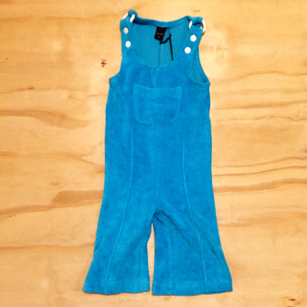 Moonkids Blue Terry Crawler Turquoise Badstof