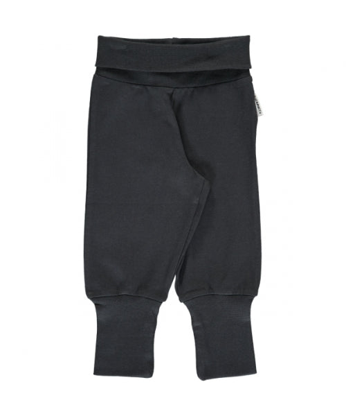 Maxomorra Rib Pants - Black/Zwart