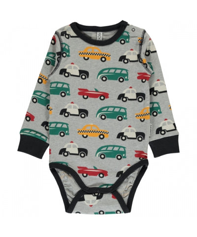 Maxomorra Body Longsleeve Traffic - Romper Verkeer