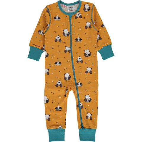 Maxomorra Jumpsuit Zipper Mole - Zipsuit Molletjes