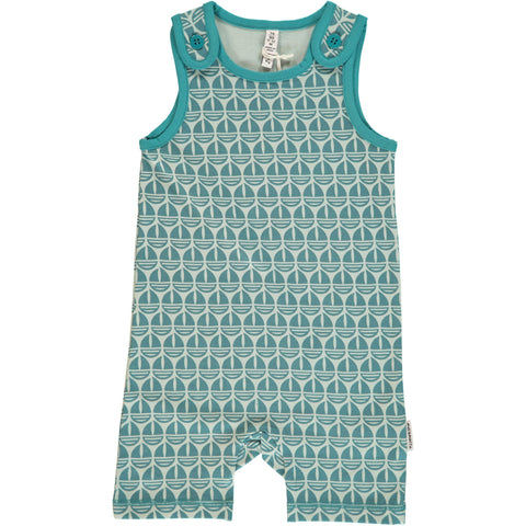 Maxomorra Summer Playsuit Sailboat - Mouwloos Zomerpakje Zeilbootjes