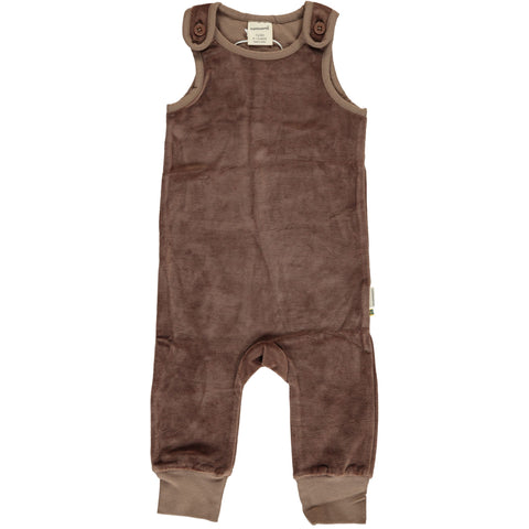 Maxomorra - Playsuit Velour Mole - Lichtbruine Playsuit Velours